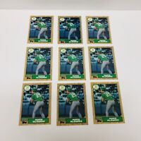 Mark McGwire 1987 Topps Rookie Card Lot Of 9 Cards #366