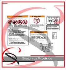 Suzuki LT250R LT500R Quadracer Decals Replica Warning Symbol Sticker 85-92 Model