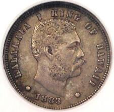 1883 Hawaii Kalakaua Dime 10C - NGC AU50 - Rare Certified Coin - $375 Value