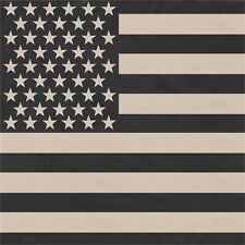 """Subdued US Flag Biker Bandana 22"""" x 22"""""""