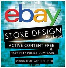 Custom Ebay Store And Responsive Listing Template Design (Silver Package)