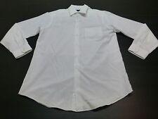 John Ashford Shirt Mens Size 15.5 34/35 M White Button Front Great Condition