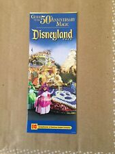 Disneyland 50th Anniversary Park Map Parade of Dreams Guide To Anniversary Magic