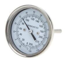 Alta precisione inox acciaio forno termometro temperatura Gauge casa cucina F8K9