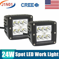 """2X 24W 3"""" Square SPOT Cube PODS LED Work Light Jeep Driving Off Road ATV 16/18W"""