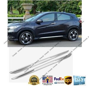 Side Skirt Lining Body Chrome Moulding Trim for 2016- 2019 Honda HR-V HRV Vezel