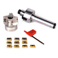 MT3-FMB22-M12 Shank 400R 50-22 Face Milling CNC Cutter 10x APMT1604 Inserts C#