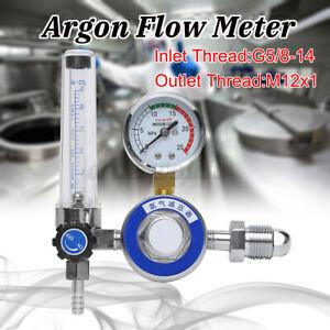 CO2 MIG TIG 25mpa Argon Pressure Flowmeter Welder Gas Welding Regulator Gauge UK
