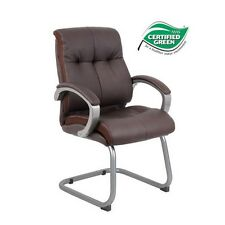 Boss B8779P-BN Double Plush Executive Guest Chair - Bomber Brown