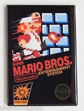 Super Mario Bros FRIDGE MAGNET (2 x 3 inches) video game box nes