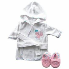 Luvable Friends Girl Bath Robe with Slippers, Pink