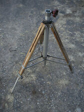 Vintage Industrial Machine Age Aluminum Metal Wood Camera Surveyor Tripod