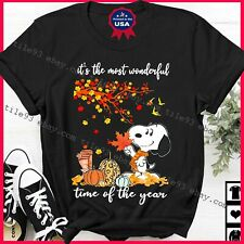 New listing Snoo-py-Fall Shirt It's The Most Wonderful Time Of The Year Shirts Pumpkin Hallo