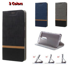 Cover For Nokia 3 / 5 / 6 / 8 Flip PU Leather Shockproof Stand Card slot Case