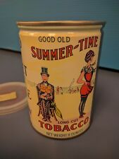 Vintage Good Old Summer-Time Tobacco Tin - Deco Era Beach Scene on Can