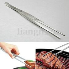 30cm Barbecue Pince en Acier Inox BBQ Alimentaire Rotisserie Cuisine Outil Tong