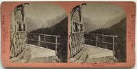 Suisse La Jungfrau Foto Lamy Stereo Stereoview Vintage Albumina