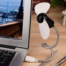 Portable Flexible Mini USB Cooling Fan Cooler For Laptop Desktop Computer