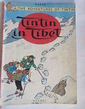 Vintage Comic TINTIN IN TIBET by HERGE Paperback 1982 Magnet Edi. Belgium