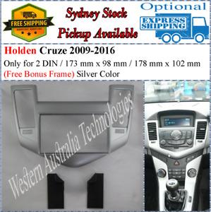 Fascia facia Fits Holden Cruze 2009-2012 (Silver) Double Two 2 DIN Dash Kit
