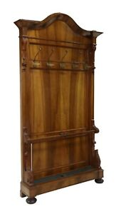 Antique Hall Tree, Louis Philippe Period Walnut, French, 1800's,19th C Handsome!