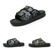 Mens Outdoor Slip On Camouflage Flat Casual Summer Open Toe Slippers Shoes Hot