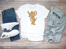 Angry Jerry mouse funny cartoon character sleeve Men white T Shirt K680
