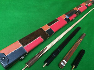 New 3/4 LP Snooker Loopy Handmade Ash Snooker Cue set With Case Extension