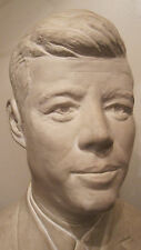 vintage handmade ceramic  john F kennedy Jr bust head bank chalkware sculpture