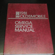 Manuale D'Officina / Service Manuale Oldsmobile Omega 1981