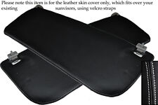 WHITE STITCHING FITS FORD TRANSIT MK6 00-06 2X SUN VISORS LEATHER COVERS ONLY