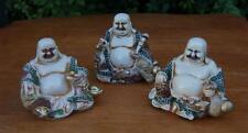 Set of 3 Ivory Colour Happy Buddha Figures By Leonardo