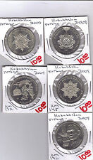 From Show Inv. -  5 UNC COMMEMORATIVE 50 TENGE COINS.KAZAKHSTAN.5 TYPES.ALL 2009