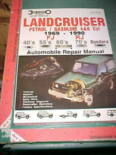1969 to 1990 TOYOTA LANDCRUISER FJ / RJ 4 & 6 CYLINDER VEHICLE REPAIR MANUAL new