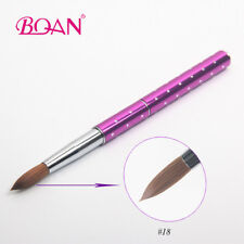 18# Acrylic Nail Art Brush Big Size Sable Hair Manicure Polish Tool Metal Handle
