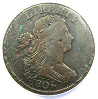 1807/6 SMALL 7 Draped Bust Large Cent 1C Coin S-272 - ANACS VF20 Details -