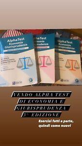alpha test economia e giurisprudenza, edizione 2020