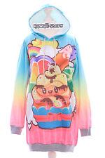 T-520 Unchi Regenbogen Ice Cream Pastel Goth Lolita Pullover Sweatshirt Harajuku