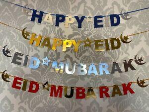 Eid Mubarak Ramadan Mubarak Happy Eid Alphabet Bunting Hajj Umrah Milad Banner