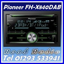 Pioneer FH-X840DAB CD Player with DAB Radio AUX USB Bluetooth Handsfree Kit for Suzuki Sx4