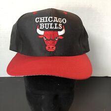 1990's Chicago Bulls Snapback Hat Cap Basketball NBA Official Michael Jordan EUC