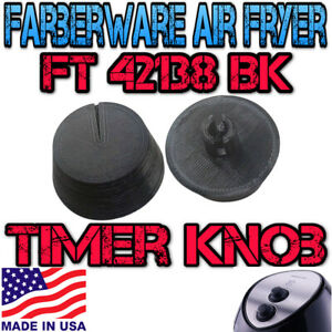 Replacement Timer knob for Farberware FBW FT 42138 BK 3.2 Quart air fryer
