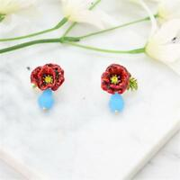 CG3061 Bonito Esmaltado Pendientes de Flor