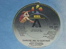 "Hot Cuisine – Dancin' Me To Ecstasy  PROMO  7""   EX SHOP"