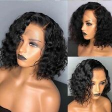 Short Bob Lace Front Deep Curly European Human Hair Wigs Baby Hair Pre Plucked