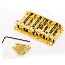 Musiclily Gold 4 String Vintage Bridge for Fender Jazz Bass JB Top Load Upgrade
