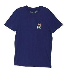 Psycho Bunny Men's Normandy Blue Crew-Neck Lounge Short Sleeve T-Shirt