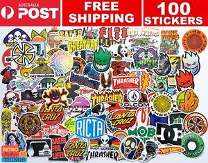 SKATEBOARD X 100 STICKER Pack Logo THRASHER, Santa Cruz Sticker BOMB