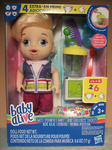 Baby Alive Boy Doll - Sweet Spoonfuls Blonde Baby - New in Pkg!