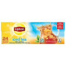 Lipton Family Black Iced Tea Bags Unsweetened 24 ct/Sealed